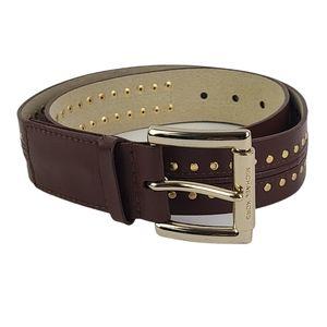 Michael Michael Kors Cognac Belt W Gold Hardware